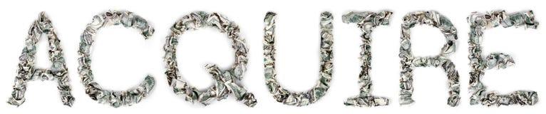 Αποκτήστε - πτυχωμένο 100$ Bill Στοκ Φωτογραφίες