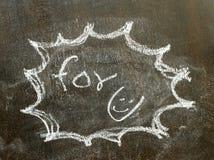 Η λέξη για το u στο σημάδι φυσαλίδων Στοκ φωτογραφία με δικαίωμα ελεύθερης χρήσης
