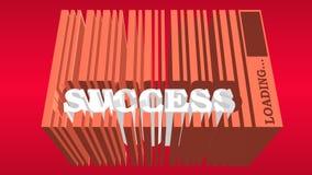 Η λέξη επιτυχίας ενσωματώνει τον κώδικα φραγμών Στοκ εικόνες με δικαίωμα ελεύθερης χρήσης