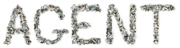 Πράκτορας - πτυχωμένο 100$ Bill Στοκ Φωτογραφίες