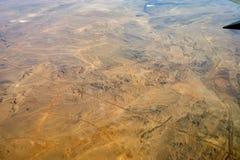η έρημος η άμμος αεροπλάνων Στοκ Φωτογραφία