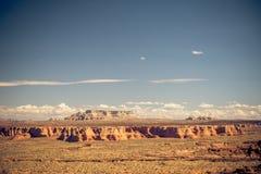 Η έρημος και το μεγάλο φαράγγι Στοκ Φωτογραφία