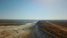 Η έρημος και το οροπέδιο Ustyurt ή Ustyurt το οροπέδιο βρίσκονται στο δυτικό τμήμα της κεντρικής Ασίας, particulor Karakalpakstan απόθεμα βίντεο
