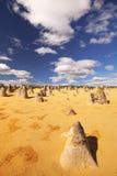 Η έρημος πυραμίδων στο εθνικό πάρκο Nambung, Αυστραλία Στοκ φωτογραφία με δικαίωμα ελεύθερης χρήσης