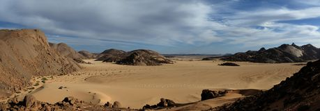 Η έρημος Σαχάρα Στοκ εικόνες με δικαίωμα ελεύθερης χρήσης