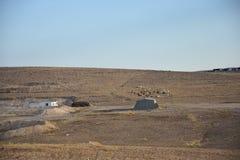 Η έρημος Negev, Ισραήλ Βεδουίνη τακτοποίηση Arara Στοκ φωτογραφίες με δικαίωμα ελεύθερης χρήσης