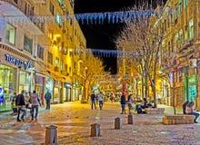 Η έλξη βραδιού στην Ιερουσαλήμ Στοκ Φωτογραφία
