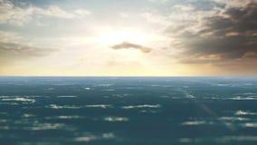 Η ήρεμη θάλασσα στο ηλιοβασίλεμα απόθεμα βίντεο