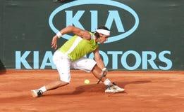 Η λήψη Nadal εξυπηρετεί Στοκ φωτογραφία με δικαίωμα ελεύθερης χρήσης