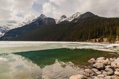 η λίμνη Αλμπέρτα Καναδάς στοκ εικόνα