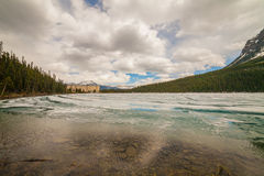 η λίμνη Αλμπέρτα Καναδάς στοκ φωτογραφίες