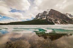 η λίμνη Αλμπέρτα Καναδάς στοκ εικόνες