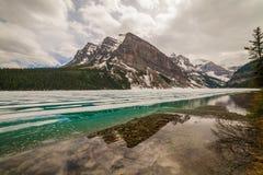 η λίμνη Αλμπέρτα Καναδάς στοκ φωτογραφία