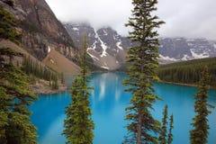 η λίμνη Αλμπέρτα banff Καναδάς τοποθετημένη το εθνικό κοντινό πάρκο moraine Στοκ Εικόνα