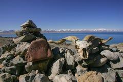 Η λίμνη Θιβέτ κοβαλτίου Nam Στοκ εικόνα με δικαίωμα ελεύθερης χρήσης