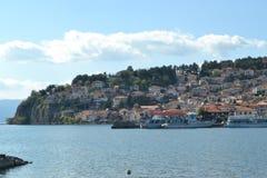 Η λίμνη της Οχρίδας Στοκ Εικόνες