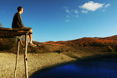 η λίμνη χαλαρώνει Στοκ Εικόνες