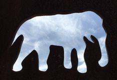 η λίμνη kariba ελεφάντων φωτογράφισε τη σκιαγραφία Ζιμπάπουε Στοκ φωτογραφία με δικαίωμα ελεύθερης χρήσης