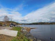 Η λίμνη Ladoga Στοκ φωτογραφίες με δικαίωμα ελεύθερης χρήσης