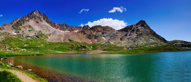 Λίμνη βουνών, Gaviapass, Ιταλία Στοκ Εικόνες