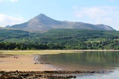 Η αίγα έπεσαν και ο κόλπος Brodick, νησί Arran, Σκωτία Στοκ φωτογραφίες με δικαίωμα ελεύθερης χρήσης