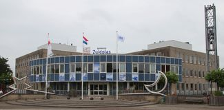 Η αίθουσα πόλεων στο κρησφύγετο Ijssel Nieuwerkerk aan για το δήμο Zuidplas στις Κάτω Χώρες που ήταν κατεδαφίζει το 2018 στοκ φωτογραφίες