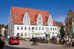 Η αίθουσα πόλεων στο τετράγωνο αγοράς σε Meissen, Γερμανία Στοκ φωτογραφία με δικαίωμα ελεύθερης χρήσης