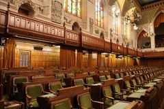 Η αίθουσα της Βουλής των Κοινοτήτων του Καναδά Στοκ φωτογραφία με δικαίωμα ελεύθερης χρήσης