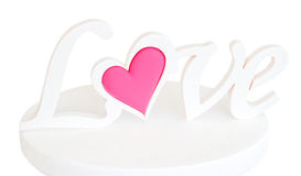 Η αγάπη λέξης σε ένα βάθρο Στοκ Εικόνες
