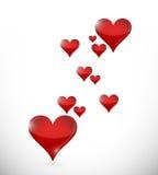 Η αγάπη ακούει το πέταγμα. σχέδιο απεικόνισης Στοκ εικόνα με δικαίωμα ελεύθερης χρήσης