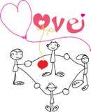 η αγάπη ανασκόπησης κόκκινη αυξήθηκε λευκό συμβόλων Στοκ Εικόνες
