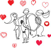 η αγάπη ανασκόπησης κόκκινη αυξήθηκε λευκό συμβόλων Ελεύθερη απεικόνιση δικαιώματος