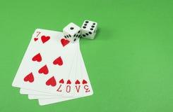 Η αγάπη είναι ένα τυχερό παιχνίδι Στοκ εικόνα με δικαίωμα ελεύθερης χρήσης