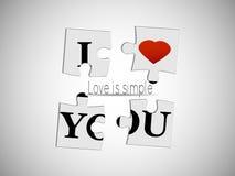 Η αγάπη είναι απλή Στοκ Εικόνα