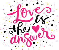 Η αγάπη είναι η απάντηση Στοκ φωτογραφία με δικαίωμα ελεύθερης χρήσης