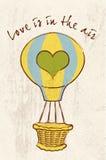 Η αγάπη είναι στον αέρα Διανυσματική απεικόνιση