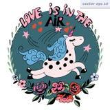 η αγάπη είναι στο λογότυπο αέρα Στοκ Εικόνες