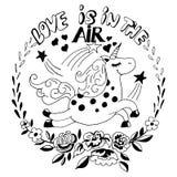 η αγάπη είναι στο λογότυπο αέρα Στοκ Εικόνα