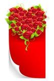 η αγάπη επιστολών καρδιών αυξήθηκε διανυσματική απεικόνιση