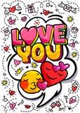 Η αγάπη εσείς διατυπώνει τη φυσαλίδα απεικόνιση αποθεμάτων