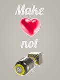 η αγάπη κάνει όχι τον πόλεμο Στοκ φωτογραφία με δικαίωμα ελεύθερης χρήσης