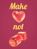 η αγάπη κάνει όχι τον πόλεμο Στοκ Εικόνες
