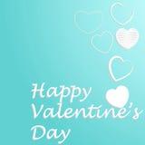 Η αγάπη και η ευτυχία το καθορισμένο ελαφρύ χρώμα καρδιών Στοκ Εικόνα