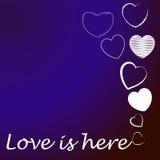 Η αγάπη και η ευτυχία το σύνολο καρδιών Στοκ Φωτογραφία