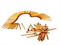 η αγάπη καρδιών οικοδόμησης ταιριάζει με τη σειρά Στοκ φωτογραφία με δικαίωμα ελεύθερης χρήσης