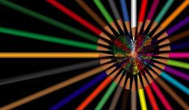 Η αγάπη καρδιών υποβάθρου Lanscape χρωματίζει το μολύβι με τον απομονωμένο Μαύρο διανυσματική απεικόνιση