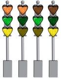 η αγάπη καρδιών επισημαίνει την κυκλοφορία Στοκ φωτογραφία με δικαίωμα ελεύθερης χρήσης