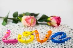 η αγάπη λέξης στο ζωηρόχρωμο αλφάβητο για το βαλεντίνο Στοκ εικόνες με δικαίωμα ελεύθερης χρήσης
