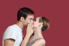 η αγάπη με φιλά Στοκ Εικόνες