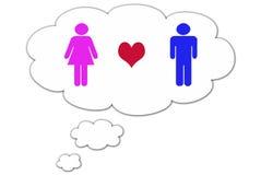 η αγάπη σκέφτεται Στοκ Εικόνες